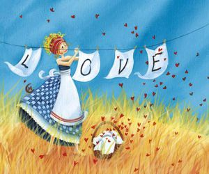 love and hearts image