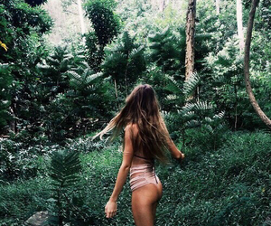 tropical, green, and theme image