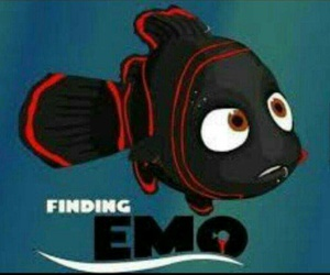 emo, funny, and nemo image