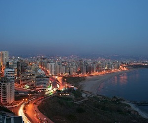 arabic, beach, and Beirut image