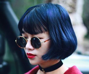 fashion, hair, and asian image