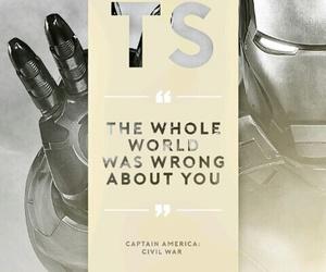 tony stark, iron man, and Marvel image