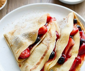 food, fruit, and crepes image