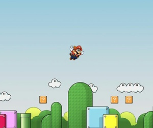 wallpaper, game, and mario bross image