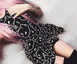 asian fashion, asian cute, and pastel goth image