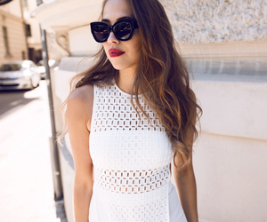 dress, fashion, and sunglasses image