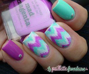 nails, purple, and mad magenta image