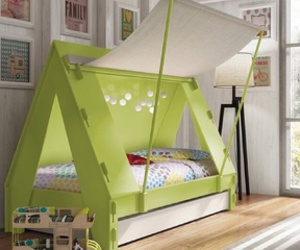 kids, bed, and bedroom image