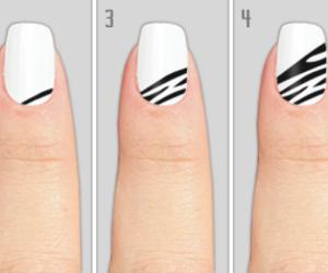 decor, nails, and zebra image