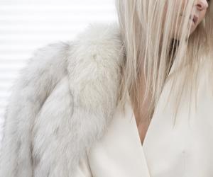 fashion, white, and fur image