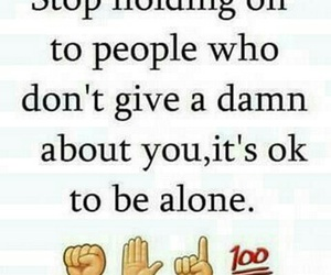 alone and quote image