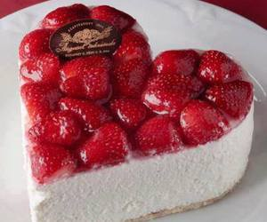 strawberry, cake, and heart image