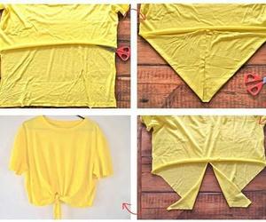 diy, t-shirt, and yellow image