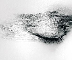 eye, closed eye, and eyelid image