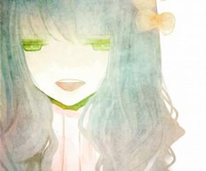 anime, girl, and bow image