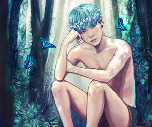 fanart, suga, and handsome image