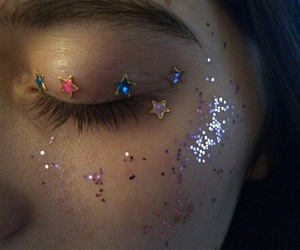 eyes, star, and paillette image