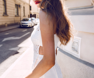 brunette, fashion, and girl image