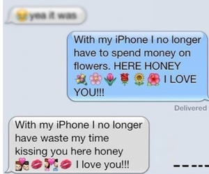 funny, kiss, and iphone image