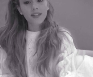 ariana grande, beautiful, and black and white image
