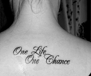 tattoo, life, and one life image