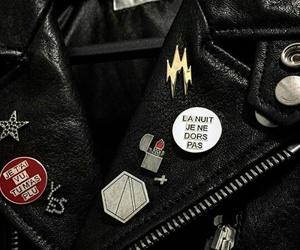 black, jacket, and leather image