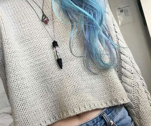 blue, hair, and alternative image