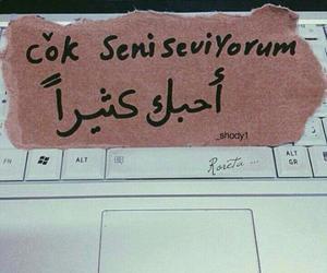 Turkish, seni seviyorum, and hz image
