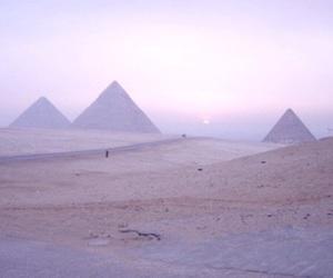 pyramid, egypt, and purple image