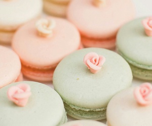 macaroons, food, and pastel image
