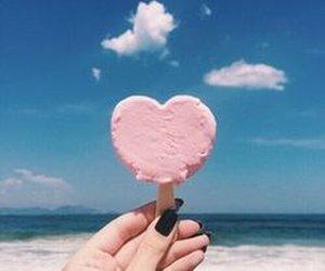 heart, summer, and ice cream image