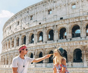 couple, rome, and Coliseum image