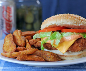 food, burgers, and love image