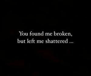 breakup, broken, and left image