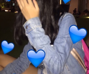 blurry, denim, and candid image