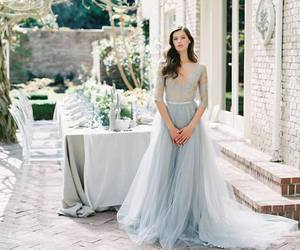 blue, gown, and princess image