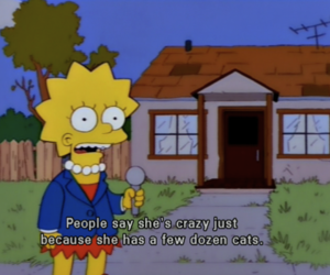 cat, simpsons, and the simpsons image