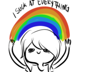 rainbow, suck, and everything image