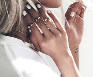 blonde, nails, and ring image