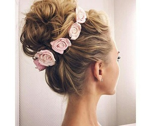 blonde, bun, and fuzzy image