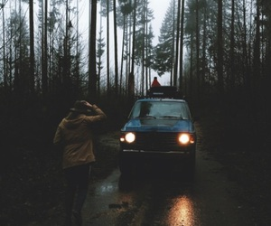 forest, car, and travel image