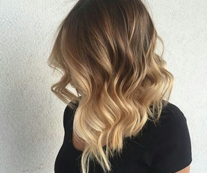 hair, blonde, and ombre image
