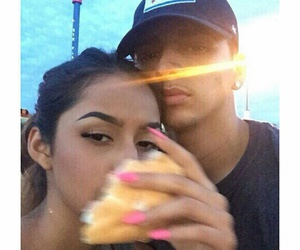 couple, food, and thug love image