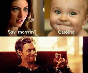 klaus, caroline, and baby image