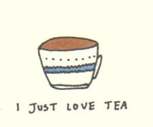 tea, love, and drawing image