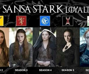 game of thrones, sansa stark, and house stark image