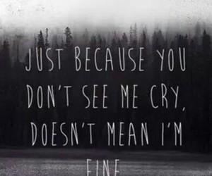 cry, sad, and fine image
