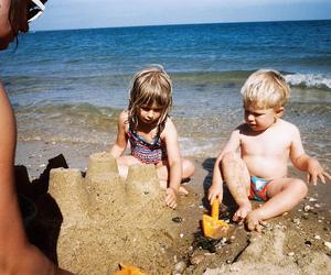 analog, beach, and children image