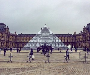 france, louvre, and pyramid image