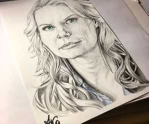 actress, once upon a time, and blue eyes image